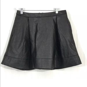 Nanette Lepore L'Amour Skirt Black Faux Leather